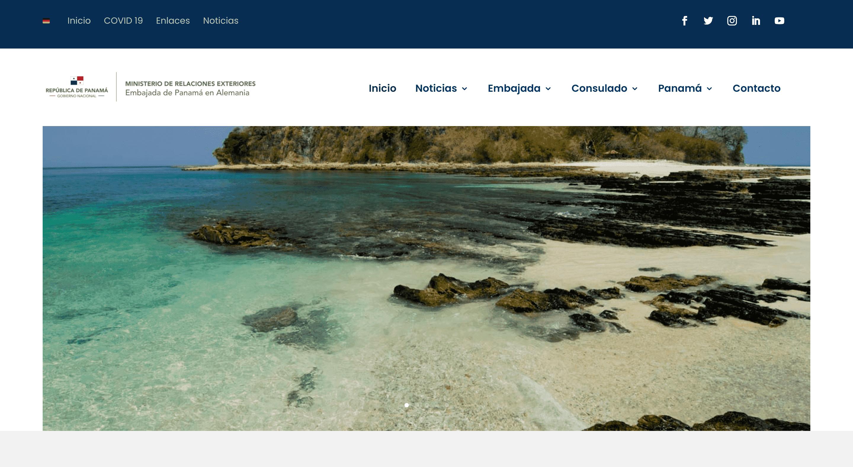 Botschaft von Panama Website erstellen lassen
